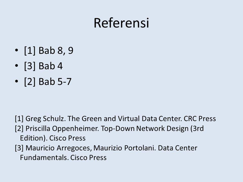 Referensi [1] Bab 8, 9 [3] Bab 4 [2] Bab 5-7